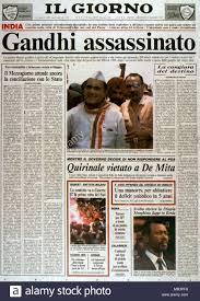 Front cover of the Italian newspaper 'Il Giorno' following the ...