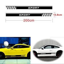 2pcs Car Long Stripe Stylish Sport Graphics Both Side Body Vinyl Decal Sticker Archives Midweek Com