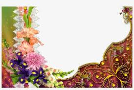flower frame png psd vector free