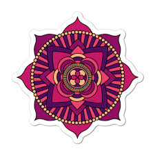 Mandala Pattern Beautiful Henna Hippie Lotus Flower Car Sticker Decal Ebay