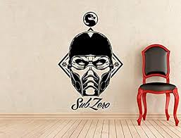 Amazon Com Sub Zero Wall Sticker Mortal Kombat Vinyl Decal Home Interior Murals Art Decoration Hds1757 Home Kitchen