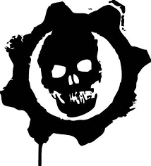 6 Inch Decal In Your Choice Of Colors Red Gold Black Pink White And Black Gears Of War War Tattoo Vinyl Decals