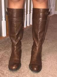 franco sarto tall brown leather boots