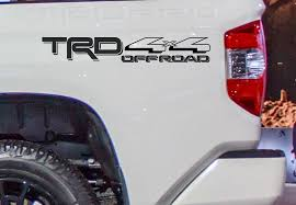 Trd Off Road 4 X 4 Toyota Racing Development Vinyl Decal For Toyota Tacoma Tundra Truck Bedside Set Of 2 Copy Ppg Depot