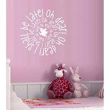 Decal Oh Dear Oh Dear I Shall Be Late Wonderland Theme Children Wall Decal 20 X 20 Walmart Com Walmart Com
