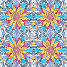 multicolored seamless flower pattern in