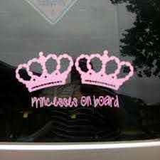 16x11cm Vinyl Car Stickers For Baby Girl Princess Princess On Board Car Decal Stickers Car Stickers Aliexpress