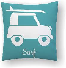 Amazon Com Dozili Surf Pillow Surfing Decor Surfboard Decor Beach Nursery Kids Pillows Surfer Baby Throw Pillow Covers Ocean Themed Decor Surfer Girl Home Kitchen