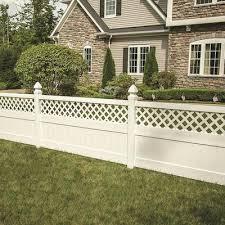 Lattice Top Vinyl Fence Panels At Lowes Com
