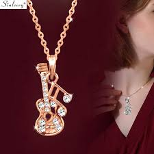 pendant necklace silver rose gold