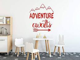 Adventure Awaits Wall Wall Decal Vinyl Sticker Krafmatics