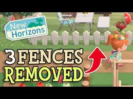 Animal Crossing New Horizons 3 Fences That Were Removed From Acnh Fence Customisation Hints Youtube