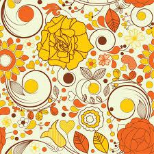 autumn flowers wallpaper vector art