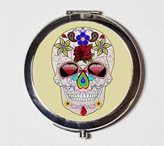 sugar skull compact mirror mexican day