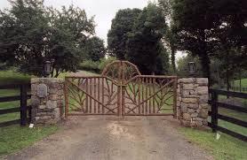 rustic garden fencing gates wooden