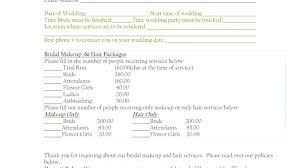 best bridal makeup contract sle