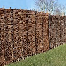 Willow Hurdle Fence Panel 6ft X 6ft Willow Screen Willow Fencing Gardenis Co Uk