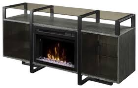 media console electric fireplace rift