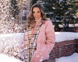 a pop of pink in the winter gal meets