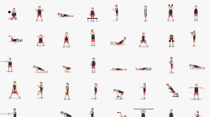 workout moves in one gif