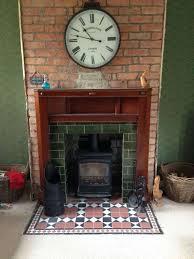 stylish fireplace tiles