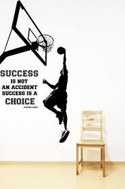 Lebron James Quote Basketball Wall Sticker Wallpaper Boys Bedroom Nursery Decor