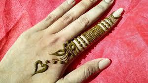 mehndi design finger image