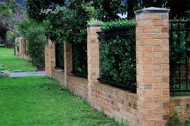 Brick Fence Fence Landscaping Brick Fence Outdoor