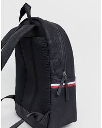 tommy hilfiger faux leather backpack in