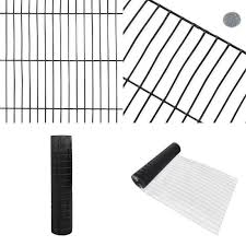 4 Ft X 50 Ft 16 Gauge Black Pvc Coated Welded Wire Fence With Mesh Size 1 2 In 7445037922995 Ebay