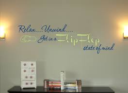 Flip Flop State Of Mind Wall Decal Trading Phrases