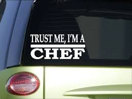 Trust Me Chef H492 8 Inch Sticker Decal Baking Cook Recipe Book Dinner Plate For Sale Online