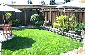 large patio front yard