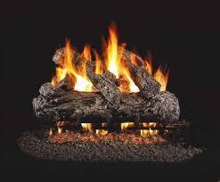 rustic oak gas logs