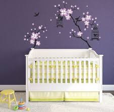 Baby Girl Room Decor Cherry Blossom Wall Art Tree Decals For Etsy