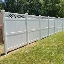 8 Ashton Vinyl Privacy Fence With Lattice Weatherables