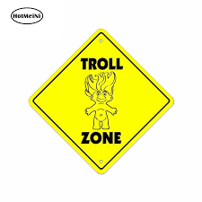 Hotmeini 13cm X 13cm For 3d Troll Zone Sign Spoof Gift Personality Funny Car Sticker The Whole Body Vinyl Car Decal Car Stickers Aliexpress