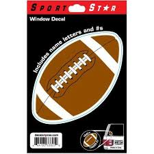 Sportstar Athletics Window Decal Football Scheels Com