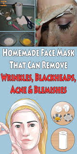 homemade face mask that can remove