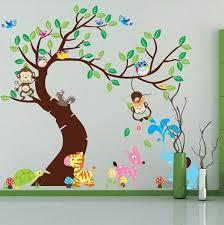 Tree Wall Stickers Kids Baby Room Animals Monkey Elephant Deer Owl Removable Ebay