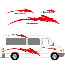 2m Motorhome Vinyl Stripes Graphics Kit Stickers Decals Set Camper Van Rv Caravan Travel Trailer Horsebox Wish