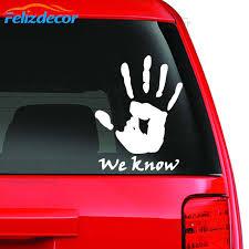 New Design Skyrim We Know Art Car Sticker Gaming Sticker Bumper Sticker Touchpad Decal Vinyl L708 Aliexpress