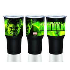 Hulk And The Avengers Stainless Steel Silver Big Mouth Tumbler 30oz Walmart Com Tumbler Big Mouth Incredible Hulk