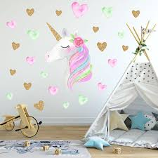 Cute Unicorn Wall Stickers Decals For Bedroom And Living Room Unicornli Com Bring Home The Joy Of Unicorn
