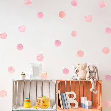 36pcs 1sets Dot Watercolor Wall Sticker Color Circle Wall Decal Children Room Removable Decorative Stickers For Kid S Bedroom Wall Stickers Aliexpress