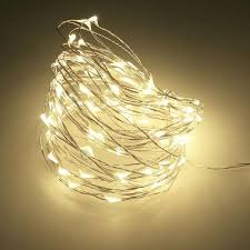 copper wire fairy string patio lights
