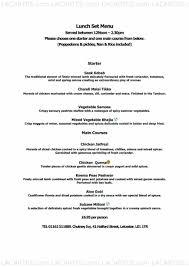 9 of 13 Price Lists & Menus – Chutney Ivy Restaurant & Bar Leicester A La  Carte Menu
