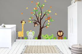 Wall Decals Nursery Kids Room Decor Baby Room Decals Safari Nurserydecals4you