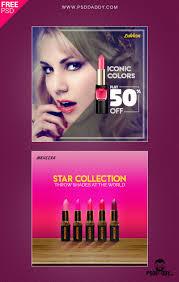 lipstick social a psd free template