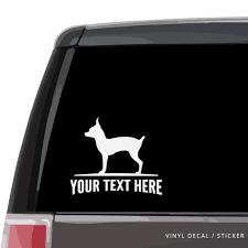 Toy Fox Terrier Silhouette Vinyl Decal Sticker Custom Gifts Etc